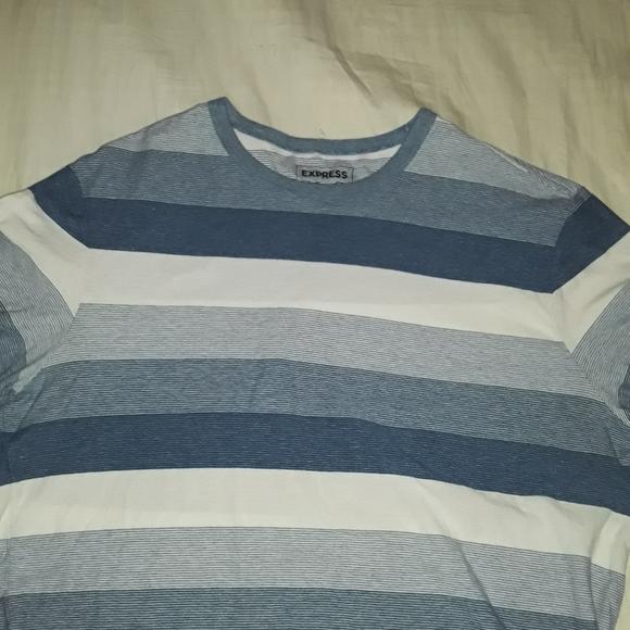 Express Other - EXPRESS BLUE&WHITE STRIPED L t shirt
